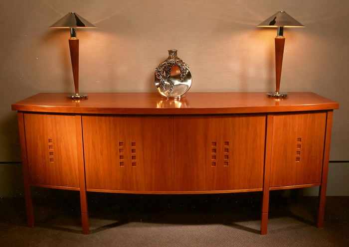 Cherry bow front sideboard